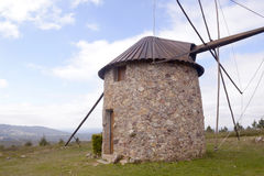 Montagne Mediterranee Scenery_Repaired Rocky Mill Immagine Stock Libera da Diritti