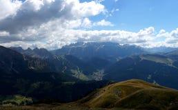 Montagne meravigliose della dolomia scenry/gruppo di sella nelle dolomia Fotografia Stock Libera da Diritti