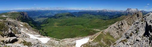 Montagne meravigliose della dolomia scenry/paesaggio alpino/grande vista Fotografia Stock Libera da Diritti