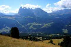 Montagne meravigliose della dolomia scenry/paesaggio alpino/grande vista Fotografie Stock