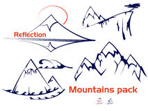 Montagne messe Fotografia Stock