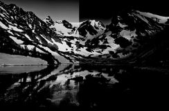 Montagne mezzo morte della penombra Fotografia Stock Libera da Diritti