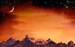 Montagne mistiche Immagini Stock Libere da Diritti