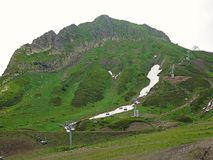 Montagne molto belle, montagne verdi Fotografie Stock