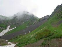 Montagne molto belle, montagne verdi Fotografia Stock Libera da Diritti
