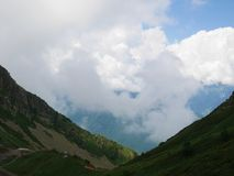 Montagne molto belle, montagne verdi Immagine Stock