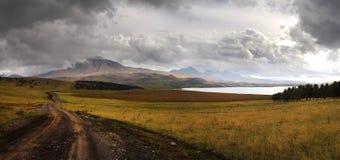 Montagne molto di alta risoluzione di vista panoramica di Georgia Fotografia Stock