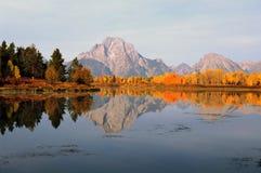 Montagne Moran dans l'automne Photos stock