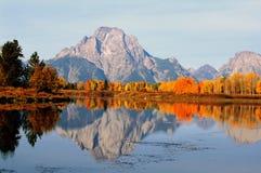 Montagne Moran dans l'automne Image stock