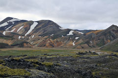Montagne nationale de Landmannalaugar en Islande photos stock