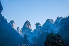 Montagne nazionali di Zhangjiajie Forest Park del Hunan Fotografia Stock