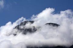Montagne nebbiose Fotografia Stock