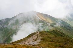 Montagne nebbiose di tatra Fotografia Stock Libera da Diritti