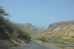 Montagne nel Capo Verde Fotografia Stock Libera da Diritti
