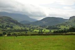 Montagne nel distretto Regno Unito del lago Immagini Stock