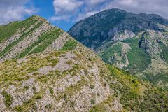 Montagne nel Montenegro Fotografie Stock