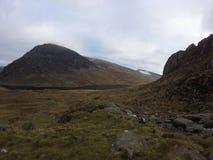 Montagne nel parco nazionale di Snowdonia Fotografia Stock