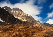 Montagne nel tempo di primavera, Polonia di Tatra.  Fotografie Stock
