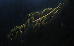 Montagne nel tramonto Fotografia Stock