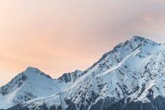 Montagne nell'inverno fotografia stock