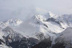 Montagne nell'inverno Fotografie Stock