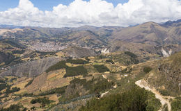 Montagne nella parte tre del Perù Immagini Stock