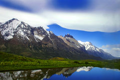 Montagne nella Patagonia (Argentina) immagine stock libera da diritti