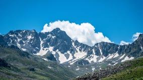 Montagne nella regione di Mar Nero Karadeniz, Turchia di Kackar fotografia stock libera da diritti