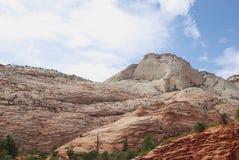Montagne nella sosta nazionale di Zion Immagine Stock