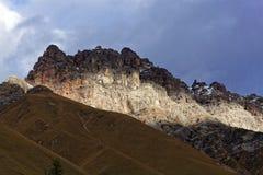 Montagne nelle alpi occidentali di Rhaetian in Svizzera Fotografie Stock