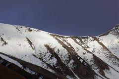 Montagne nelle alpi occidentali di Rhaetian in Svizzera Fotografia Stock