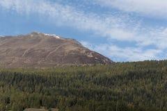 Montagne nelle alpi occidentali di Rhaetian in Svizzera Fotografie Stock Libere da Diritti