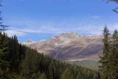 Montagne nelle alpi occidentali di Rhaetian in Svizzera Immagine Stock