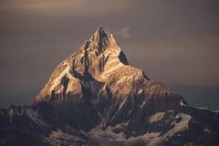 Montagne Nepal dell'Himalaya del filtro da Instagram Immagini Stock Libere da Diritti