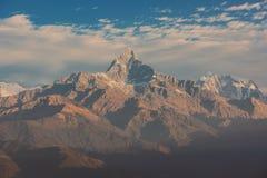 Montagne Nepal dell'Himalaya del filtro da Instagram Fotografia Stock Libera da Diritti