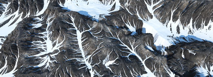Montagne in neve Immagini Stock Libere da Diritti