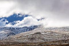 Montagne in neve - alpi australiane, Nuovo Galles del Sud, Australia Fotografie Stock