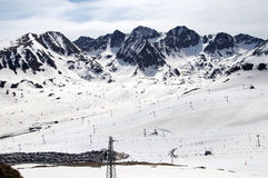 Montagne nevicate Fotografia Stock