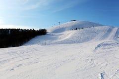 Montagne nevose di inverno. Stazione sciistica di Donovaly Immagine Stock Libera da Diritti