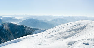 Montagne nevose europee Fotografia Stock Libera da Diritti