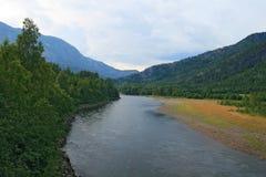 In montagne norvegesi Immagine Stock