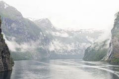 Montagne Norvegia del fiordo Fotografie Stock Libere da Diritti