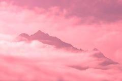 Montagne nuvolose Fotografie Stock