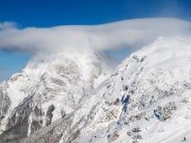 Montagne nuvolose Fotografia Stock Libera da Diritti