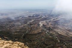 Montagne Oman 2 di Dhofar di punto di vista della montagna di Jabal Samhan dell'più alto punto Immagine Stock Libera da Diritti