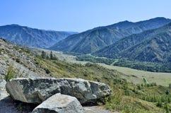 Montagne paesaggio, Altai, Russia di estate Fotografia Stock