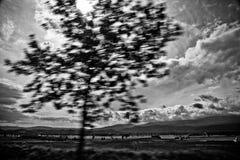 montagne, paesaggio, nuvole, Fotografie Stock