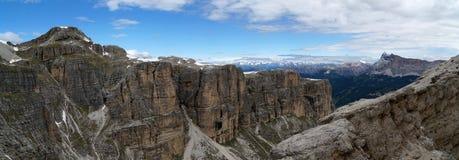 Montagne panoramiche meravigliose della dolomia scenry/paesaggio alpino/grande vista Fotografie Stock Libere da Diritti