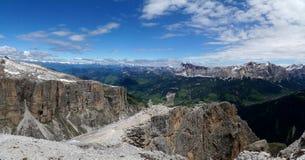 Montagne panoramiche meravigliose della dolomia scenry/paesaggio alpino/grande vista Immagine Stock