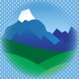 Montagne piane nel telaio Immagine Stock